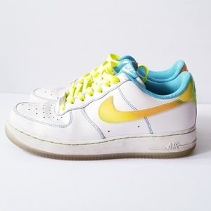 size 40 dbdb6 185e0 Nike Shoes - AF1 Nike LE GS white pro cyan citron